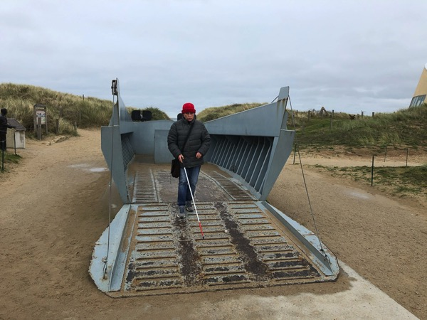 Landing craft on Omaha beach