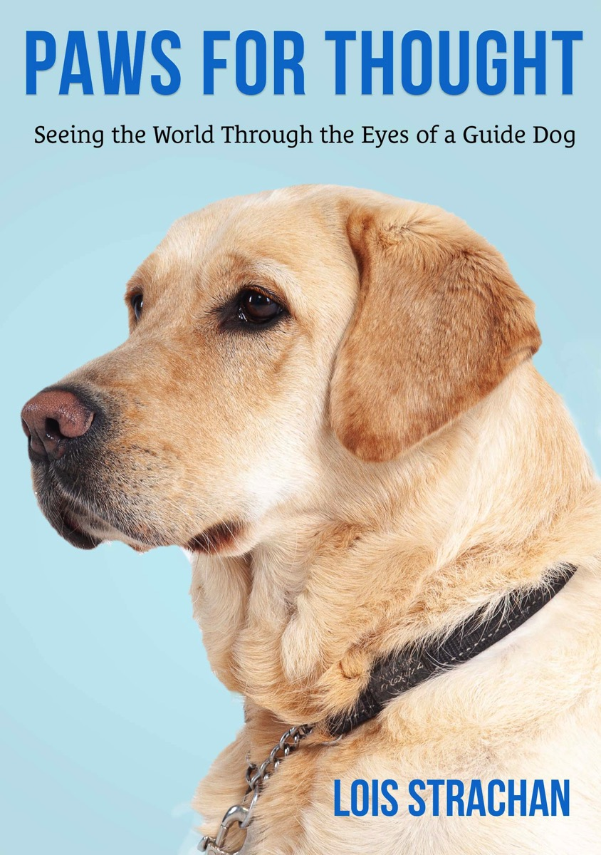the images show the book covers of Lois's book Paws for Thought.